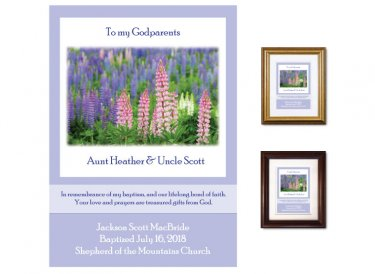 Gift for Godparents - Field of Lupines