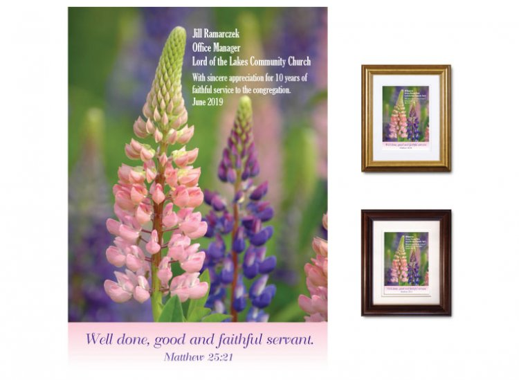 Service Appreciation - Well Done (Lupines) - Click Image to Close
