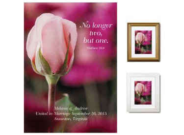Wedding Gift - No Longer Two (Pink Rose)