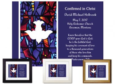 Confirmation Gift - Descending Dove (Royal Purple)