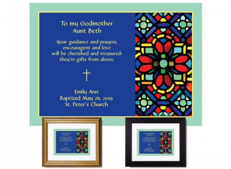 Gift for Godmother - Stained Glass Abstract - Click Image to Close