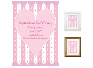 Personalized Baptism Gift - God's Family (peppermint)