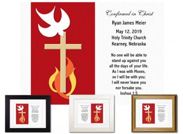 Personalized Confirmation Keepsake - Dove and Fire