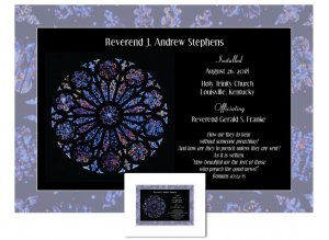 Clergy Installation Gift - Rose Window