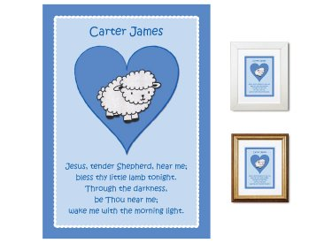 Children's Gift - Tender Shepherd Bedtime Prayer (blue)