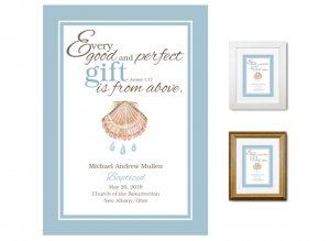 Personalized Baptism Keepsake - Good and Perfect Gift