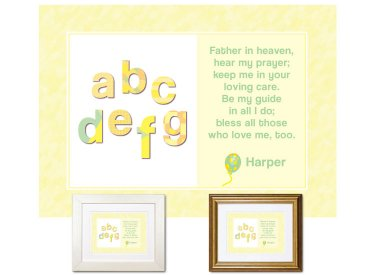 Children's Gift - ABCs Bedtime Prayer (yellow)