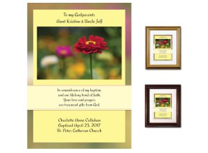 Gift for Godparents - Zinnia