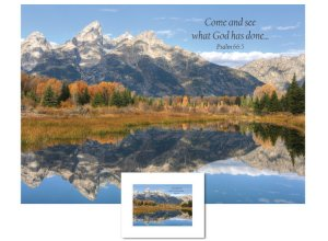 Inspirational Art - Come and See (Tetons)