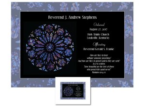 Clergy Ordination Gift - Rose Window