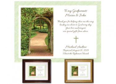 Gift for Godparents - Garden Path (green)