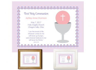 First Communion Gift - Bread of Life (Violet)