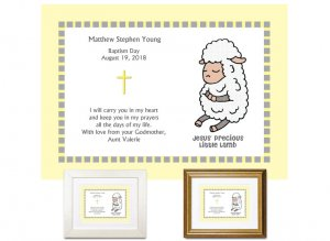 Gift for Godchild - Baptism Day (yellow)