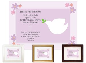 Confirmation Gift - Dove, Plum