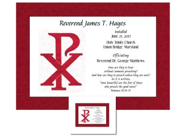 Clergy Installation Gift - Chi Rho