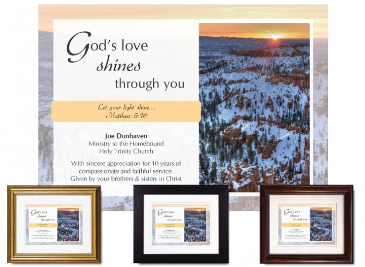 Service Appreciation - God's Love Shines (Canyon) - Click Image to Close