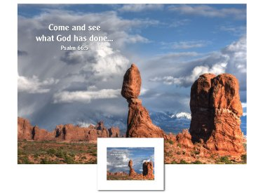 Inspirational Art - Come and See (Balanced Rock)