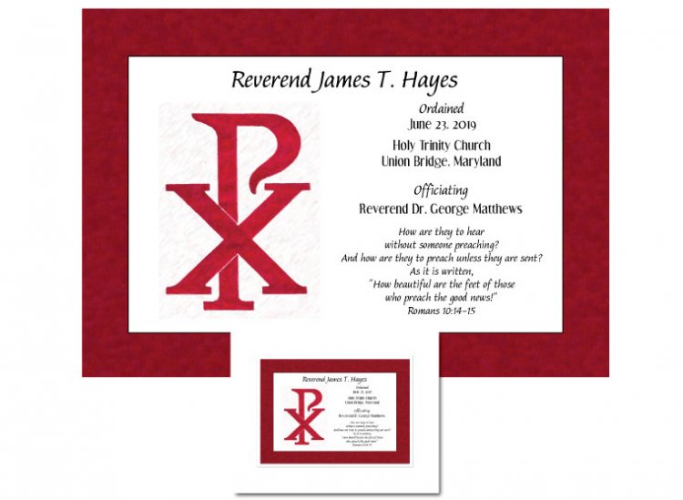 Clergy Ordination Gift - Chi Rho - Click Image to Close