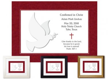 Confirmation Gift - Dove, white