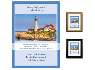 Gift for Godparents - Guidance (Portland Light)