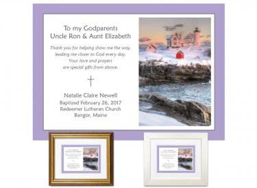 Gift for Godparents - Guidance (Nubble Light Winter)