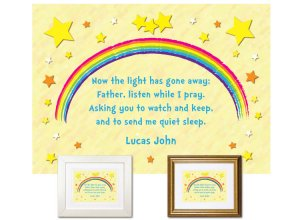 Children's Gift - Stars Bedtime Prayer (blue text)
