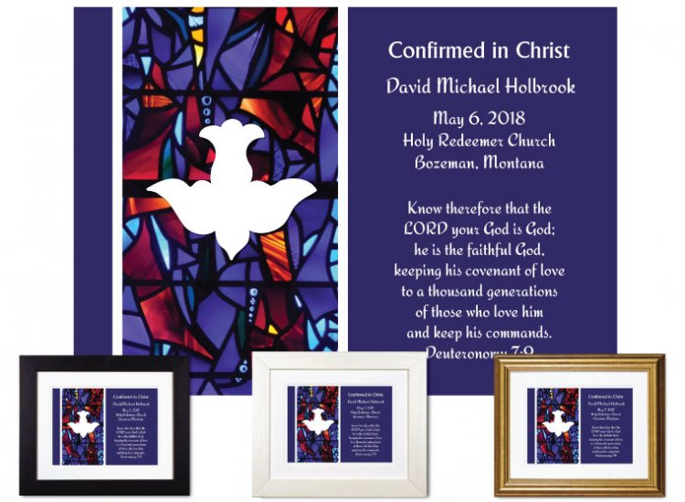 Confirmation Gift - Descending Dove (Royal Purple) - Click Image to Close