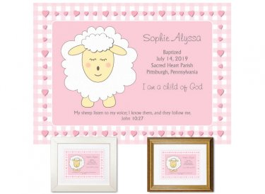 Personalized Baptism Gift - I am a Child of God (pink)