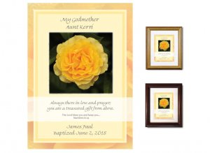 Gift for Godmother - Yellow Rose