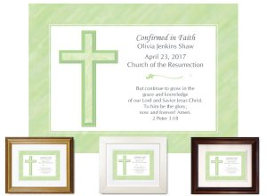 Confirmation Gift - Cross (lime)