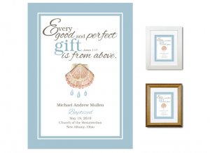 Personalized Baptism Gift - Gift From Above (blue)