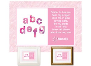 Children's Gift - ABCs Bedtime Prayer (pink)