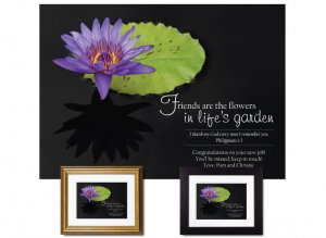 Personalized Friendship Gift - Water Lily