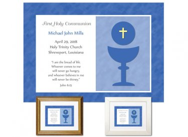 First Communion Gift - Keepsake (Blue)