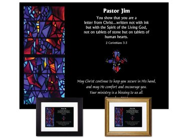 Personalized Pastor Appreciation - Letter From Christ