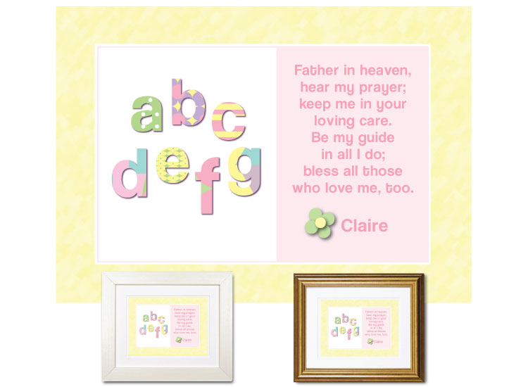 Children's Prayer - ABCs (Pastels) - Click Image to Close