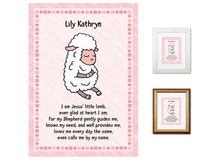 Children's Gift - Little Lamb (pink) - Click Image to Close
