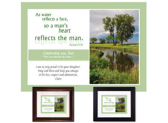 Gift for Father - A Man's Heart (Tree) - Click Image to Close