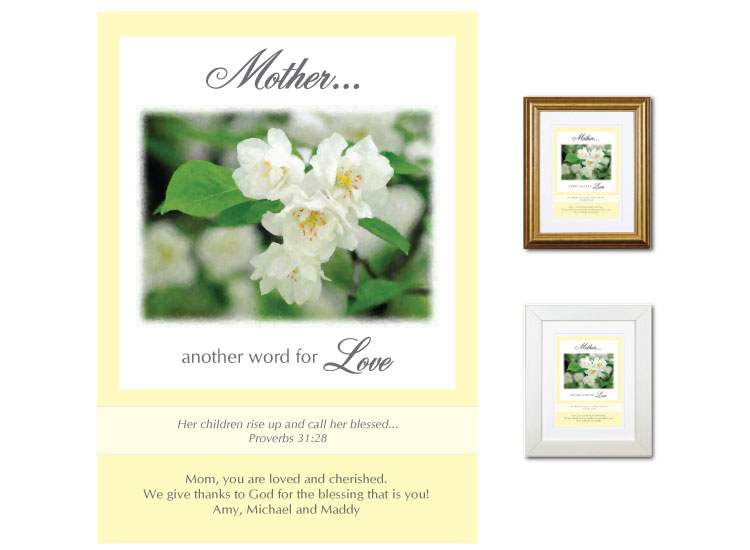 gift for mother another word for love white blossom