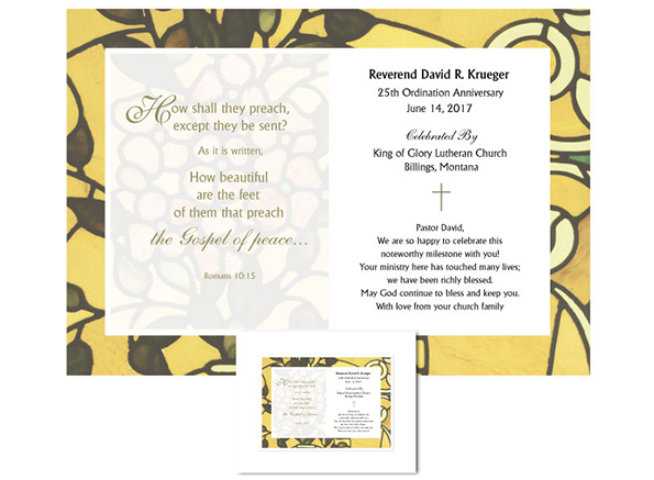 Personalized Ordination Anniversary Gift