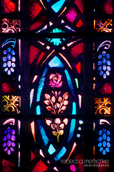 Stained glass window at St. John's Church in Portsmouth, New Hampshire