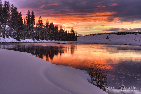 Fire and Ice - Sunset over the Madison River (Yellowstone National Park)