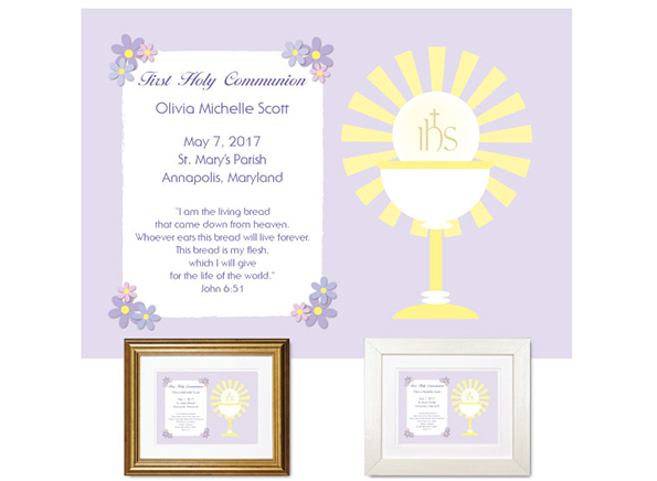 Personalized First Communion Plaque