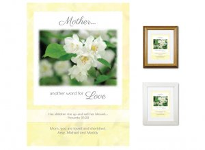 Gift for Mother - Another Word for Love (white blossom)