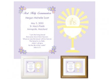 First Communion Gift - Sunburst (Lilac)