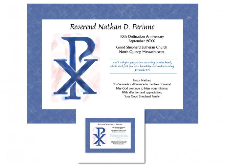 Ordination Anniversary Gift - Chi Rho - Click Image to Close