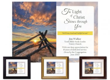 Personalized Service Appreciation - The Light of Christ (Fence)