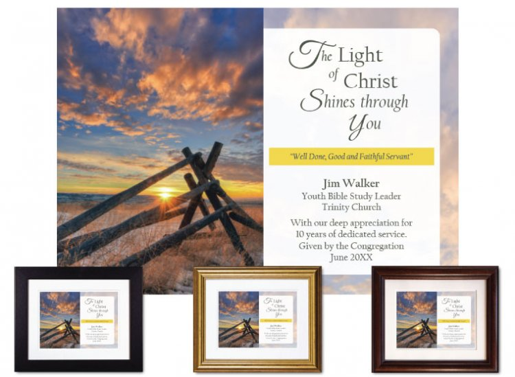 Personalized Service Appreciation - The Light of Christ (Fence) - Click Image to Close