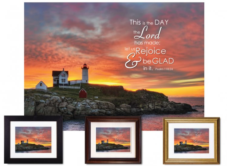Gifts for House & Home - Let Us Rejoice/Nubble Light - Click Image to Close