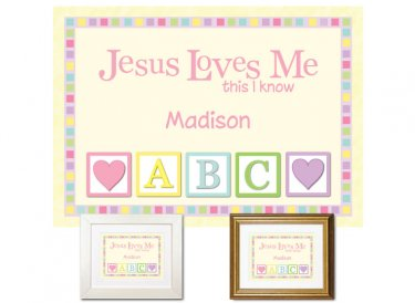 Children's Gift - Jesus Loves Me (pastels)